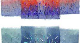 Wystawa Barbary Pierzgalskiej tkaniny artystycznej, collage